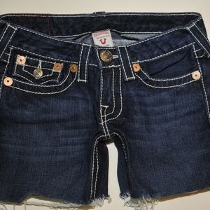 True Religion cut off shorts size 26 (6957)